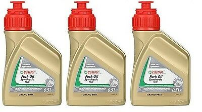 Castrol Fully Synthetic Motorycle Fork Oil 10W Suspension Fluid 3x500ml 1.5 L