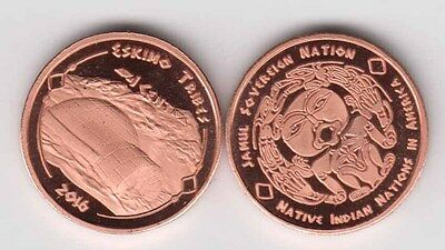 USA Indian Tribe ESKIMOS 1 Cent 2016, Igloo, unusual coinage