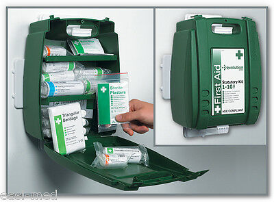 Evolution 10 Person HSE Workplace First Aid Kit c/w Wall Bracket & Int. Shelves