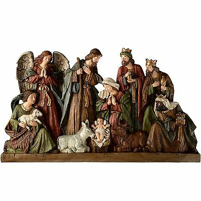 WeRChristmas Hand Painted Nativity Scene Christmas Decoration 83 cm - Large M...