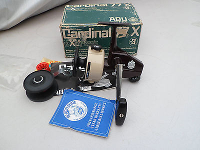 Vintage Abu Sweden Cardinal 77X Spinning Fishing Reel Boxed