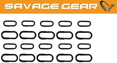 Savage Gear Oval Stainless Splitring (10x 6mm + 10x 8mm) Sprengringe, Ringe