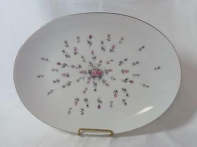 "Harmony House Fine China Rosebud Pattern 3534 Oval 14"" Platter Made In Japan"