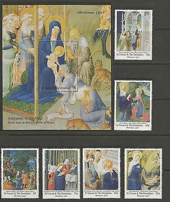 Christmas  Navidad 1994  St. Vincent & The Grenadines. Complete. Mnh