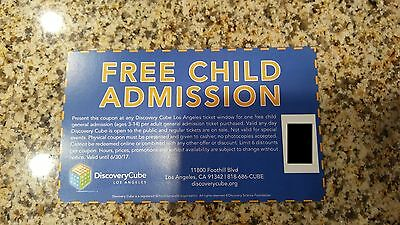 One Discovery Cube Los Angeles Free Children Admission Voucher Up To 6 $13 Value