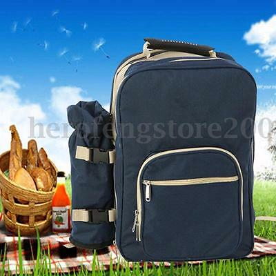 4 Persons Picnic Backapck Rucksack Portable Camping Lunch Bag With Tableware Set