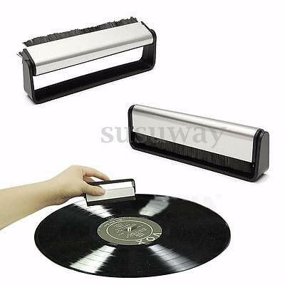 Vinyl Record Carbon Fiber Brush Antistatic Dust Cleaner Turntable Fibre Cleaning