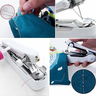 Mini Portable Cordless Hand-held Sewing Machine Home Travel Stitcher Serger