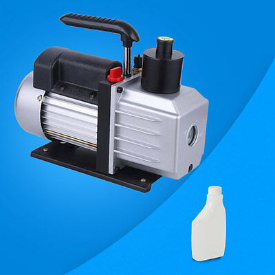 3CFM Rotary Vane Vacuum Pump Single Stage HVAC 1/4HP Air Conditioning A/C New