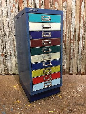 Metal Filing Drawers Vintage Cabinet Industrial Office Upcycled Retro Chic