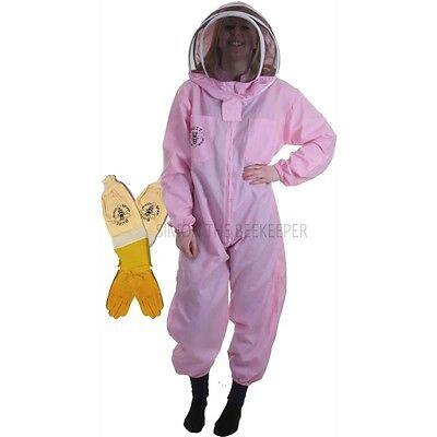 BUZZ BASIC Pink Suit with Fencing Veil and Ventilated Gloves