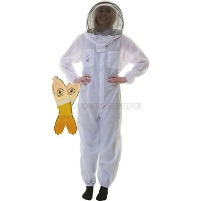 Beekeeping Fencing Suit Ventilated Gloves Set - Buzz Basic