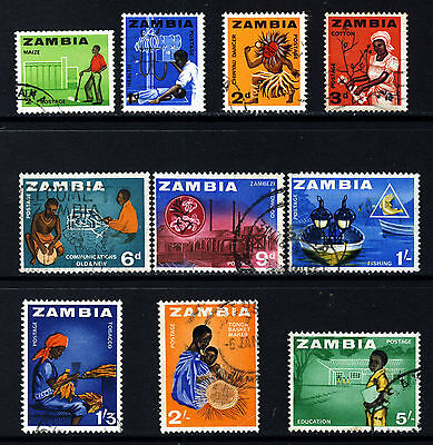 ZAMBIA 1964 Pictorial Part Set SG 94 to SG 105 VFU