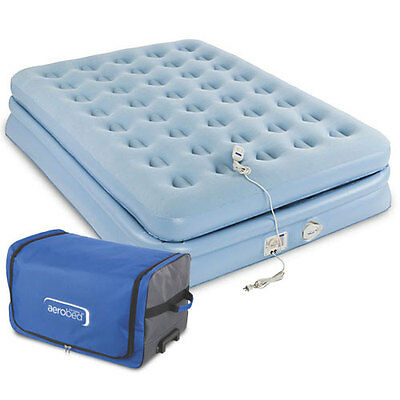 Aerobed 2000017521 Elevated Airbed Inflatable Mattress Travel Bed w/Pump Full