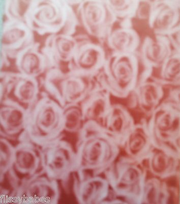 2 x A4 Burgundy Roses Patterned Vellums NEW