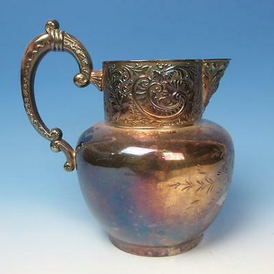 Webb Silverplated Silverplate Decorated Water Pitcher