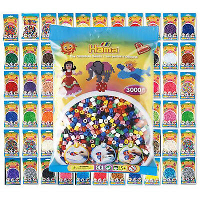 Hama Beads - 38 Colours to Choose from - 1000 Per Bag - UK Supplier