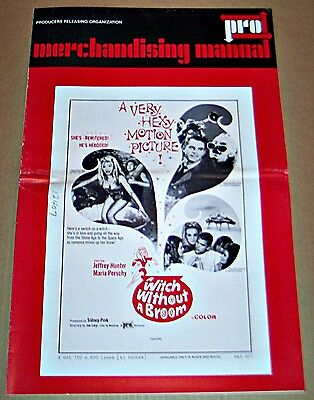 Witch Without A Broom (1967) Jeff Hunter * Maria Perschy Original Pressbook