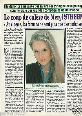 Coupure de presse Clipping 1990 Meryl Streep  (1 page)