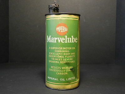 RARE - Antique Imperial Marvelube Motor Oil One Quart Tin Can Imperial Oil Ltd.