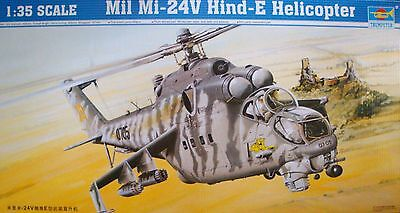 TRUMPETER® 05103 Soviet Mil Mi-24 V Hind-E Helicopter in 1:35