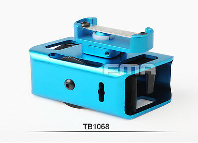 New Blue IPSC 360 Degrees Rotate Aluminum Magazine Pouch For CNC Airsoft Pistol