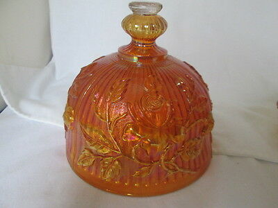 Vintage Imperial Luster Rose Marigold Carnival Glass Domed Butter Dish Lid Only