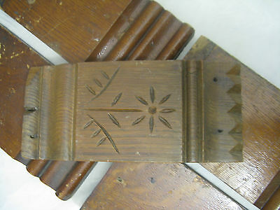 VTG Carved Wood Architectural Plinth Five Pieces Original Finish Salvage