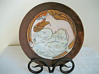 Antique Art Nouveau Hand Painted Mz Austria Dish Signed By Artist 1916