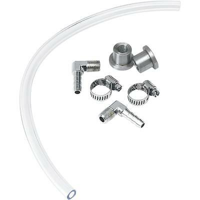 LowBrow Customs - 001337 - Gas Tank Fuel Sight Gauge Kit with Chrome Fittings
