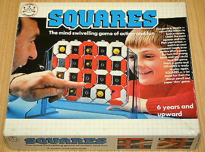 Squares The Mind Swivelling Game Of Action & Fun - Crown & Andrews 1982