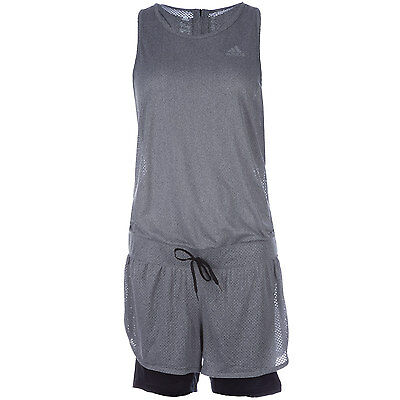 Womens adidas Womens Cool Jumpsuit in Grey - 16-18 From Get The Label