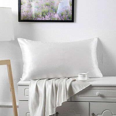 100% Pure and Organic Mulberry Silk Pillow Case - 19 Momme White