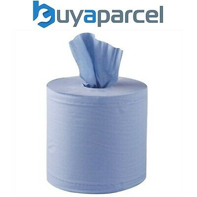 Sealey Paper Blue Roll Blueroll 2-Ply Embossed 150 Meter Centre-feed Pack of 1