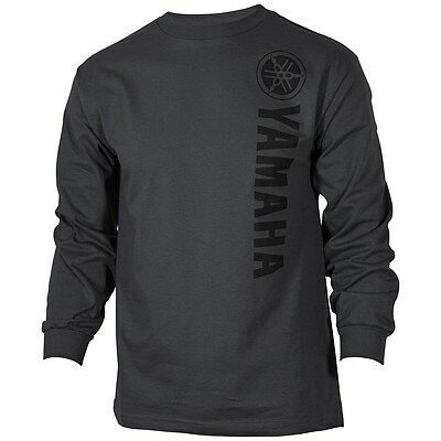 Yamaha Vertical L/S T-Shirt in Charcoal - Size Large - Brand New