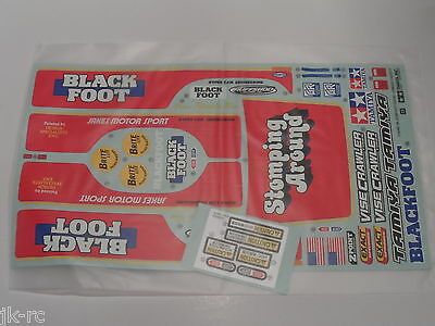 New Genuine Tamiya Blackfoot (2016) 58633 Decals / Stickers 19495887 Black Foot