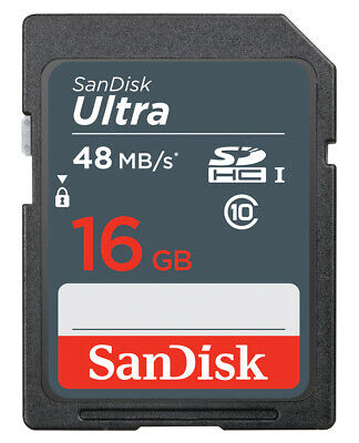 SanDisk 16GB SD SDHC Memory Card For Canon Powershot SX220 HS Digital Camera