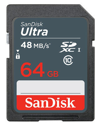 SanDisk 64GB SD SDXC Memory Card For Nikon D5500 Digital Camera