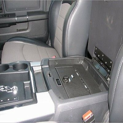 Console Vault Floor Console Gun Safe for 09-16 Dodge Ram w/ Barrel Key Lock