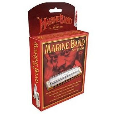Hohner Marine Band 1896/20 Harmonica D Harp  Factory Sealed New Sale!!