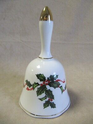 Vintage Lefton Holly And Ribbons Bell In Excellent Condition
