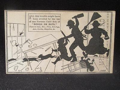 Chester Crim General Merchandiser Victorian Trade Card Rough on Rats & more