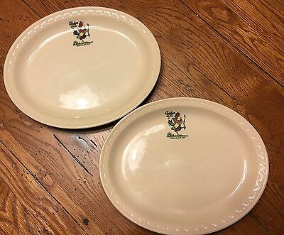 Pair Of Vintage Chicken In The Rough Plates Syracuse China
