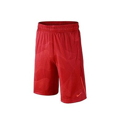 Brand New - Nike Boys Dri-FIT Legacy All-Over Print Shorts - Red