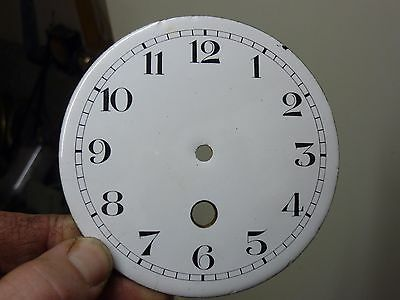 "Antique French Clock  4 3/16""  Enamel Dial (L8)"