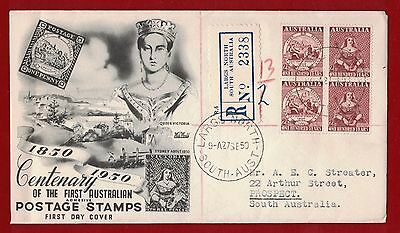 1950 Australia Stamp Centenary SG 239/40 First Day Cover