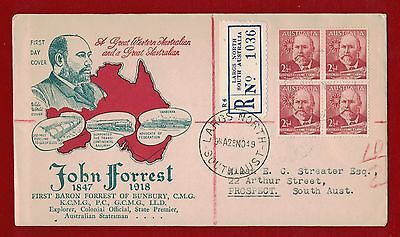1949 Australia John Forrest First Day Registered Largs North clean