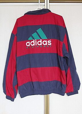 Vintage 80s Adidas Equipment Shell Jacket Track Suit Top D7 L