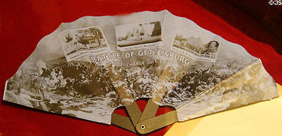 Gettysburg 50th anniversary fan 1913 ORIGINAL rare last 3 pieces