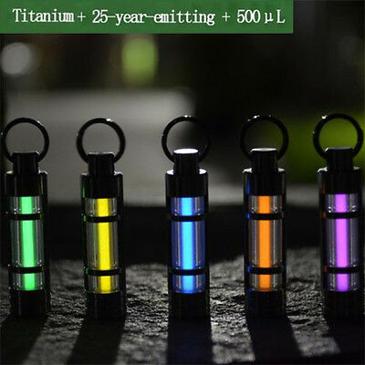 25 years Tritium Marker Hang Keychain Self Illuminating Fluorescence Glow Light